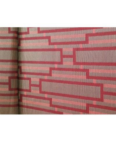 Tkanina dekoracyjna-wzór bordowe cegiełki