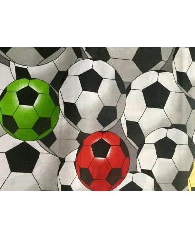 Bawełna 160 cm wzór piłki kolorowe