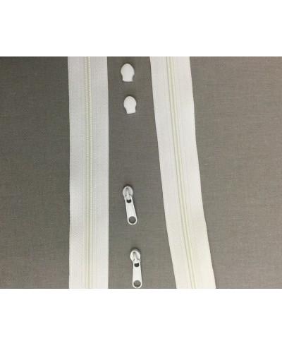 Taśma suwakowa biała  3mm
