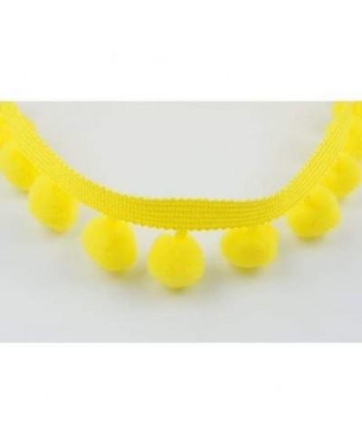 Taśma z pomponami duża kolor żółty