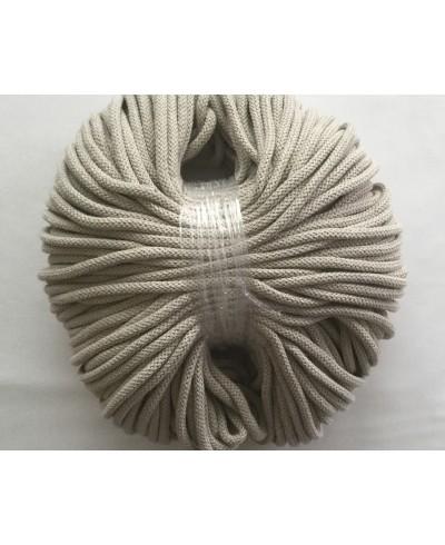 Sznurek bawełniany 5 mm,100 metrów,kolor beż