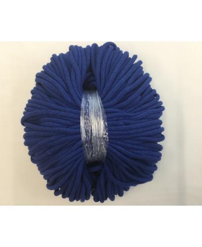 Sznurek bawełniany 5 mm,100 metrów,kolor chabrowy