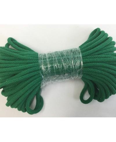 Sznurek bawełniany 5 mm,25 metrów,kolor c. zielony