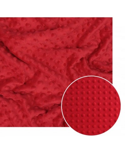 Minky kolor czerwony