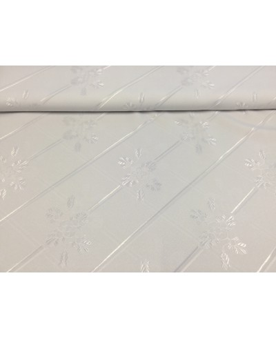 Tkanina obrusowa 160 cm, plamoodporna biała
