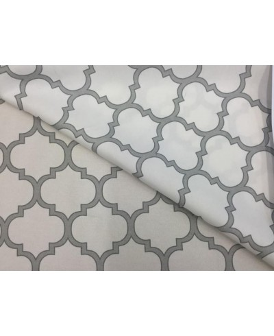 Tkanina 160 cm,plamoodporna ,maroko szare na białym