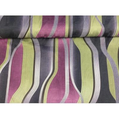 Tkanina dekoracyjna 160 cm-kolorowe fale