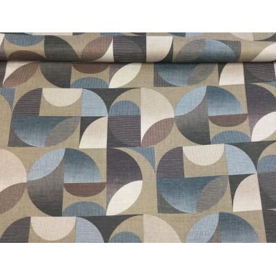 Tkanina dekoracyjna 160 cm wzór geometryczny