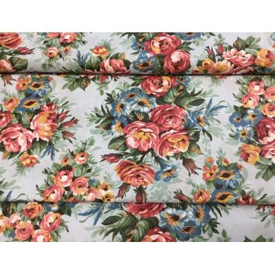Tkanina dekoracyjna  140 cm róże angielskie