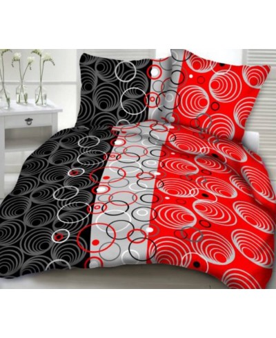 Tkanina bawełniana 160 cm-spirale na czerwonym