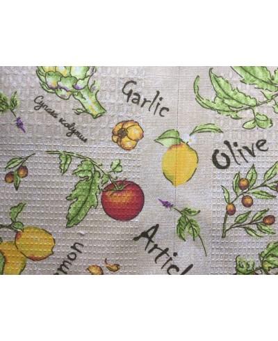 Tkanina bawełniana 150 cm-wafel wzór warzywa