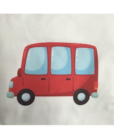 Panel poduszkowy P25-30 x 30-Autobus czerwony