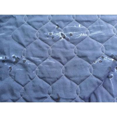Wyprzedaż Pikówka tkanina dekoracyjna pikowana  dekoracyjna-granat 240 cm