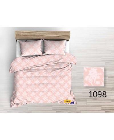 Tkanina bawełniana pościelowa 1098 kwiaty białe na różowym 220 cm