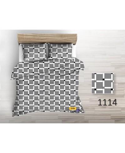 Tkanina bawełniana pościelowa 220 cm krata szara 1114