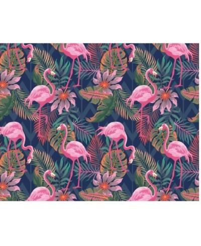 Tkanina bawełniana 160 cm Flamingi różowe wśród liści