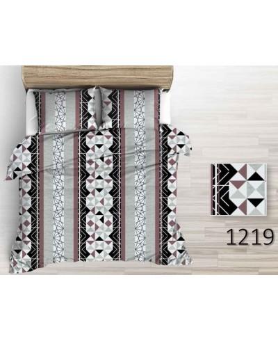 Wzory geometryczne brązowo-szare 220 cm bawełna 1219