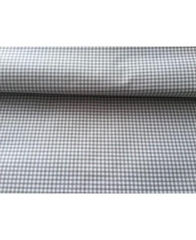 Tkanina bawełniana 160 cm drobna kratka szara