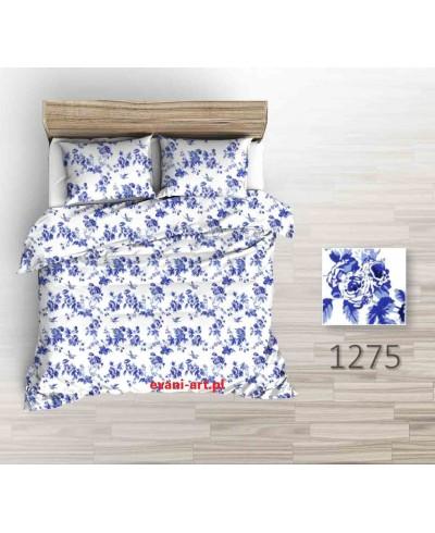 Tkanina bawełniana 220 cm granatowe róże na białym 1275