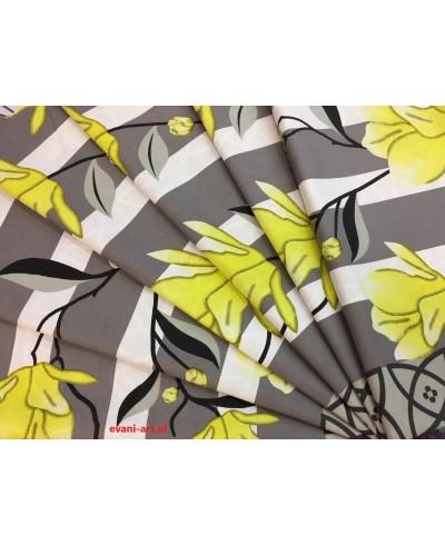 KUPON-Zestaw kuponów bawełna końcówki Magnolie żółte