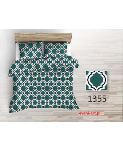 Tkanina bawełniana 220 cm wzór Marokański Maroko Zielony  1355