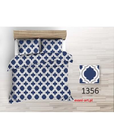 Tkanina bawełniana 220 cm wzór Marokański Maroko Granatowy  1356