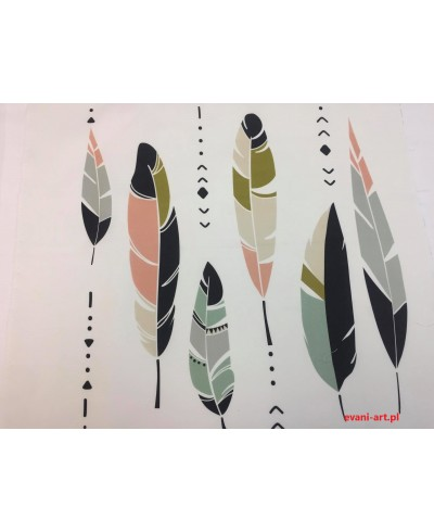 Panel poduszkowy Kolorowe pióra 50 x 50
