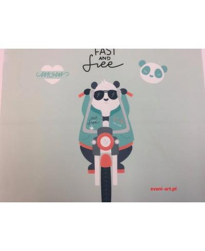 Panel poduszkowy Panda  skuter Fast and free  50 x 48