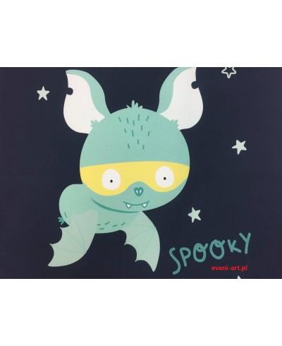 Panel poduszkowy  Spooky  Nietoperek nocą 50 x 48