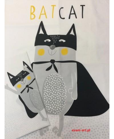 Panel kocykowy 75 x 100 + poduszkowy 50 x  50 Kot  Bat Cat