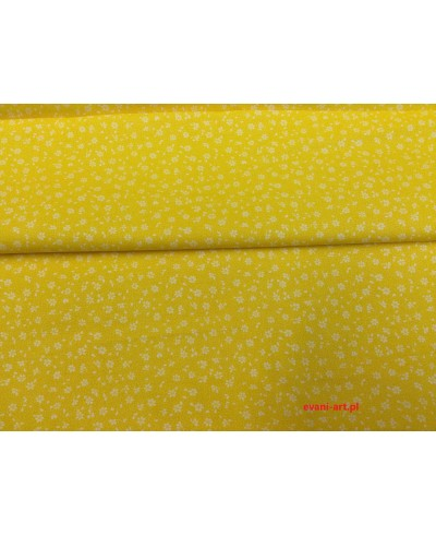 Tkanina bawełniana łączka żółta 160 cm