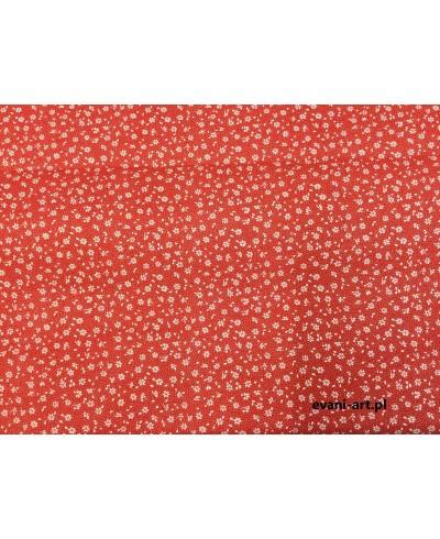 Tkanina bawełniana łączka czerwona 160 cm