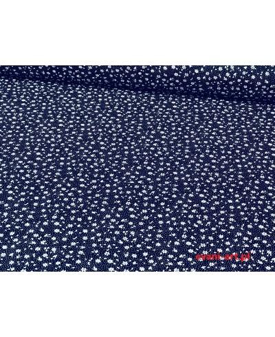 Tkanina bawełniana łączka granatowa 160 cm