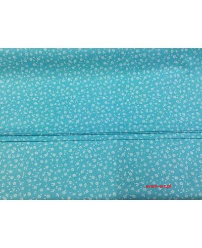 Tkanina bawełniana łączka niebieska 160 cm