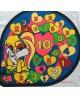 Panel poduszkowy-34 x 31 welur,cyferki,zwierzaczki