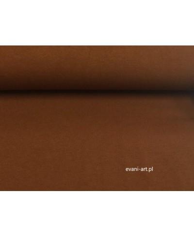 Jersey bawełna elastan brąz