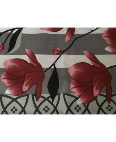 KUPON- bawełna końcówki Magnolie czerwone