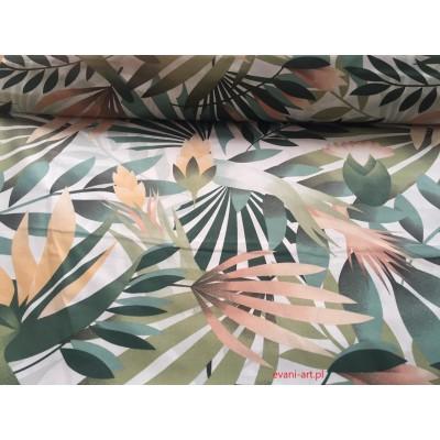 Bawełna Pastelowe  Liście Eukaliptusa 062L