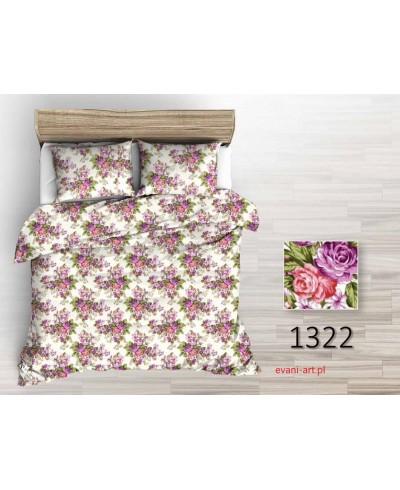 Tkanina bawełniana 220 Pęki róż fioletowo-czerwone na białym 1322