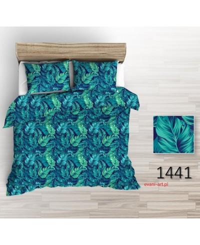 Bawełna Liście Palmy Zielono-Szmaragdowe 1441