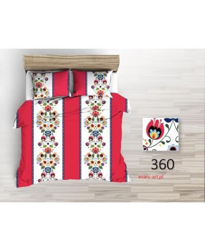Bawełna Folk  Szeroki Czerwone Pasy 0360