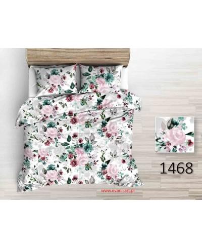 Bawełna Pastelowe  Pęki Róż na Białym 0212