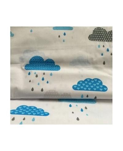 Bawełna 160 cm wzór chmurki niebieskie