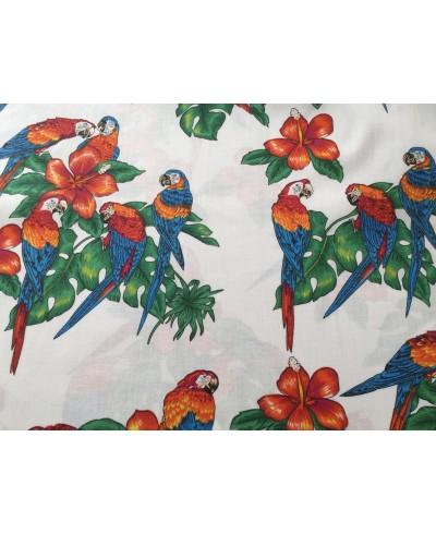 Bawełna 160 cm wzór papugi