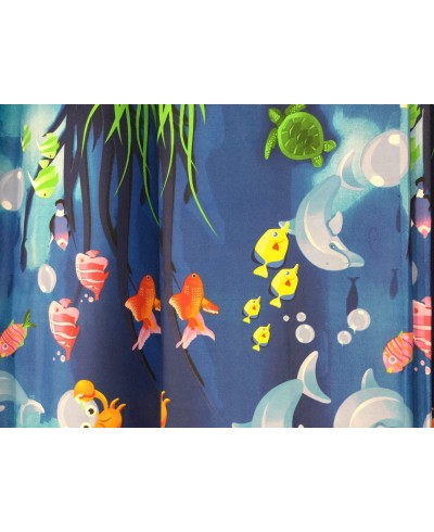 Bawełna 160 cm wzór akwarium