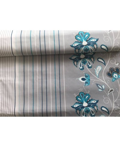 Bawełna 160 cm wzór kwiaty niebieskie