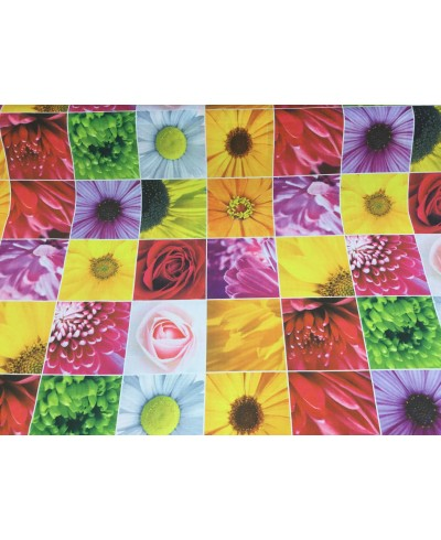 Tkanina wodoodporna-Kostki kwiatowe