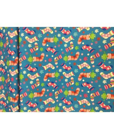 Tkanina poliestrowa 160 cm -Skarpetki kolorowe