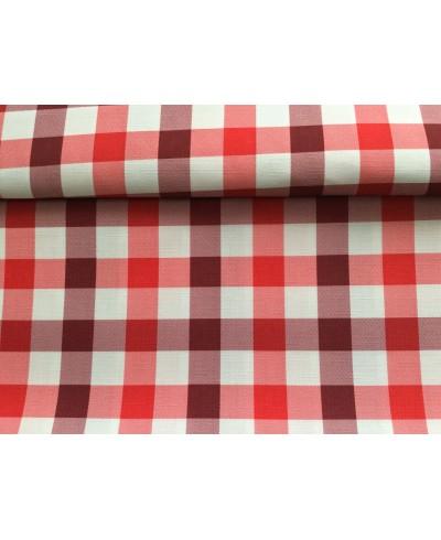 tkanina wodoodporna -kratka czerwona